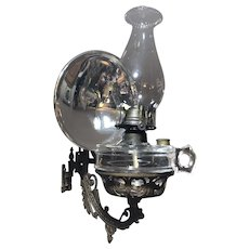 Stover Mfg. Company Wall Mount Oil Lamp with Mercury Reflector
