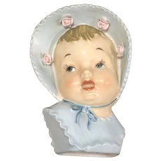 Sweet UCAGCO Head Vase Baby in Blue