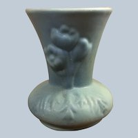 Van Briggle Pottery Vase Blue Green Ming
