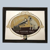 "Victor RCA Nipper Dog ""His Masters Voice""  Mirror"