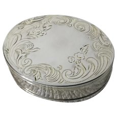 Vintage Wadsworth Sterling Silver Compact Keepsake Trinket Box with Mirror