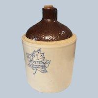 1 Gallon Western Stoneware Jug Monmouth, IL