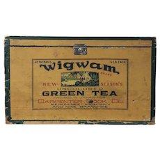 Wigwam Japan Green Tea Crate Advertising