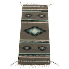 Vintage Native American Navajo Hand-woven Wool Rug
