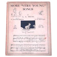 A.A. Milne More Very Young Songs First Edition Book 1928