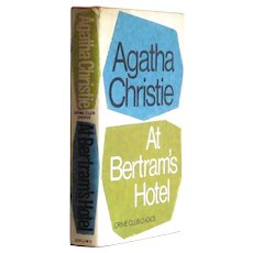 Agatha Christie At Bertram's Hotel First Edition Book 1965