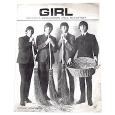 The Beatles Girl Sheet Music 1965
