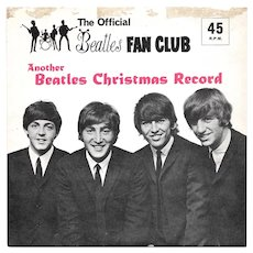 The Beatles Fan Club Third Christmas Record LYN 948 Flexi Disc with Newsletter 1965