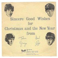 The Beatles First Christmas Flexi Disc and Original Gatefold Sleeve LYN 492 1963