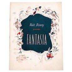 Walt Disney Fantasia Souvenir Film Programme 1940