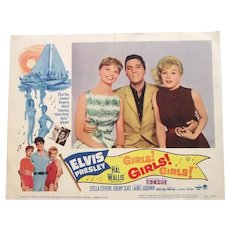 Elvis Presley Girls! Girls! Girls! U.S. Lobby Cards Full Set of 8 1962