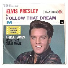 Elvis Presley Follow That Dream U.K. EP Film  Soundtrack 1962