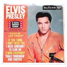 Elvis Presley Film Love In Las Vegas Soundtrack U.K. EP 1964