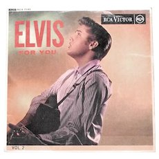 Elvis For You Volume 2 EP Record RCX-7143 1964