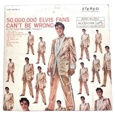 Elvis' Gold Records Volume 2 U.S. Stereo LP 1962