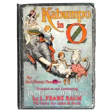 Ruth Plumly Thompson Kabumpo in Oz Rare First Edition, First State Book 1922