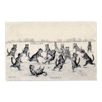 Louis Wain Hockey Cats Postcard 1904