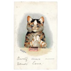 Louis Wain Grace Cats Postcard Used Postcard Date Stamped 1904