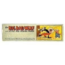 Walt Disney Ensign Big Bad Wolf and Red Riding Hood Slides circa 1930s