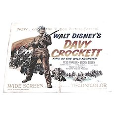Walt Disney Davy Crockett Original U.S. One Sheet Poster 1955
