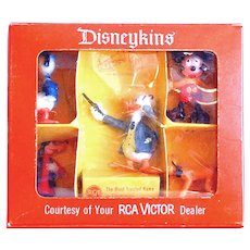 Walt Disney Louis Marx Disneykins Boxed Promotional Figures for RCA Victor 1961