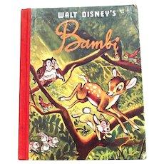 Walt Disney's Bambi Book From the Disney Film circa 1949