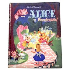 Walt Disney's Alice In Wonderland First Edition 1951 SCARCE