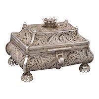 1858 Russian Silver Filigree Box