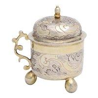 Rare Russian Parcel-Gilt Silver Covered Cup, circa 1750