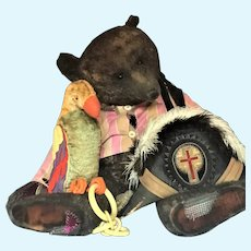 General Patches #1/1 - Wonderful Very 'Big Chap' by Amy Goodrich, Portobello Bears 2000 and MERRYTHOUGHT Parrot