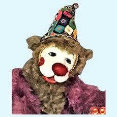 "Lulu Tatum's OOAK Laughing Masterpiece Clown Bear JINGLE approx. 21"" 1999"