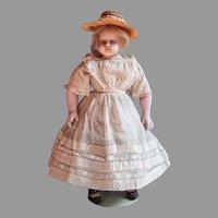Beautiful MONTENARI poured wax child doll - all original