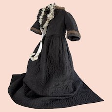 Extremely Rare and Collectible Mourning Christening Gown Circa 1870