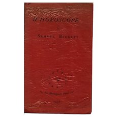 Samuel Beckett (1929 – 1950) Signed – Whoroscope - First Edition 1930