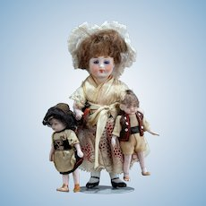 """Precious Mignonette With Her Dolls All Original for the French Market 5"""""""