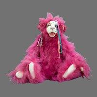 Lulu Tatum's OOAK Pink Orangutan 'Mariposa' 2003