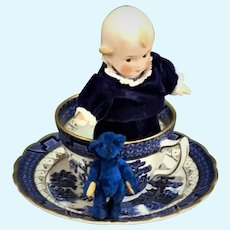 All Bisque fully jointed painted features Kewpie attributed to Heubach