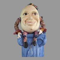 Humpty Dumpty OOAK Surreal Egg by Pattie Bibb