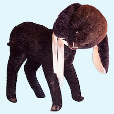 "Schuco Rare Free Standing ""Studio Size Black Lamb 1950s""."