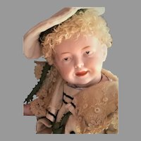 'Hannes' An Exquisite and Rare All Bisque German Character Baby Doll (circa 1920)