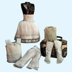 Lovely Set of Corset and Undergarments for French Fashion Poupées