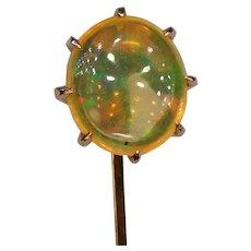 Antique Jelly Opal 14k Gold Stick Pin Stickpin Tie Cravat