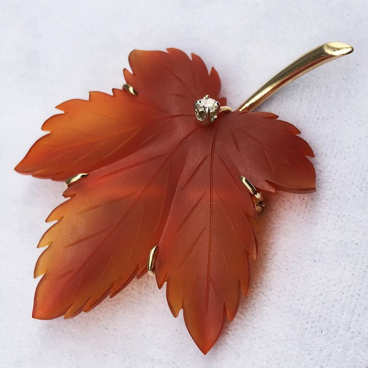 Red Ruby /& Diamonds 3.Ct 14k Yellow Gold Over Maple Leaf Long Dangle Earrings