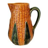 Vintage Olfaire Majolica Portugal Corn Ear Pitcher