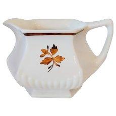"Vintage Wm Adams & Sons Micratex ""Tea Leaf Copper"" Ironstone Creamer"