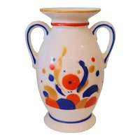 Vintage Art Deco Czechoslovakian Pottery Vase