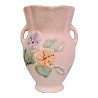 Vintage Weller Bouquet Morning Glories Pottery Vase