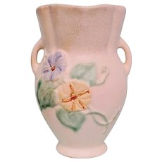 Vintage Weller Bouquet Morning Glories Pottery Vase