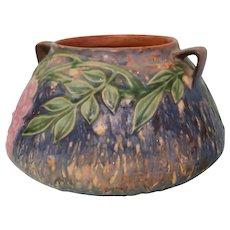 "Vintage Roseville Pottery ""Wisteria"" Squat Vase"