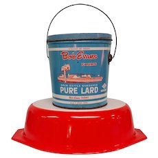 Vintage Bob Evans Farms Lard Tin- 4 Pound Bucket